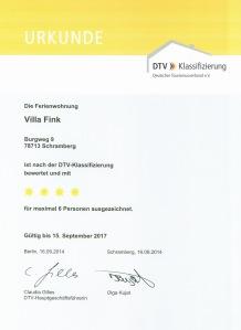 DTV 4-Sterne Urkunde klein