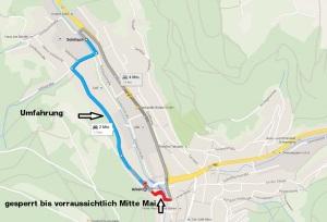 Umleitung nach Burgweg 9