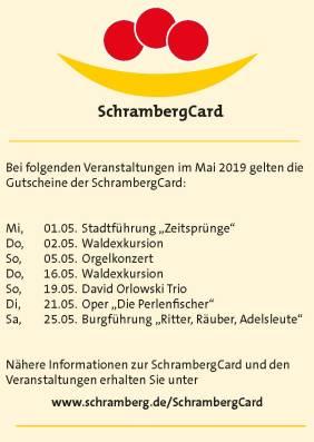 Veranstaltungen SchrambergCardMai